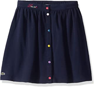 Girls Multicolor Button Up Skirt