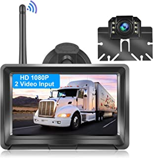 $99 » METEESER Wireless Backup Camera with 5 Inch Monitor for Truck, Camper, Car, SUV, HD 1080P Vehicle Backup Camera with Digit...