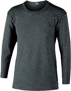 おたふく手袋 ボディータフネス 発熱・保温 テックサーモ インナーシャツ 長袖丸首 モクグレー LL JW-169