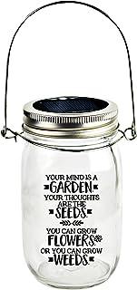 Solar Canning Jar LED Light - Automatic and Safe, Illuminates Using Solar Power, Solar Panel, LED Glow | Your Mind is a Ga...