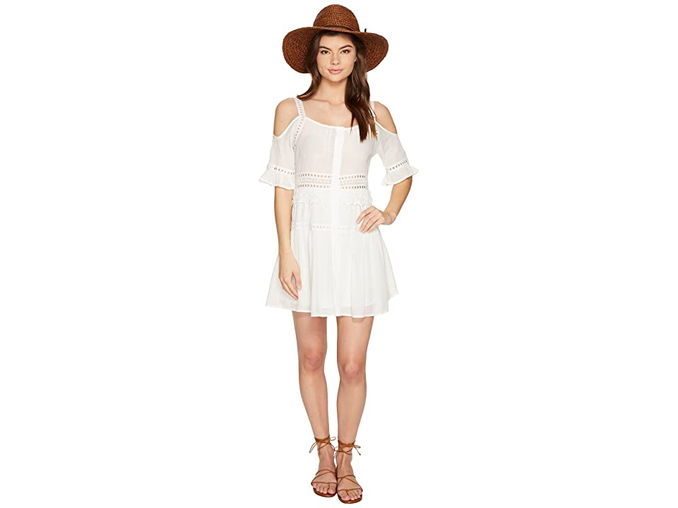 BB Dakota Marla Cold Shoulder Dress (Ivory) Women