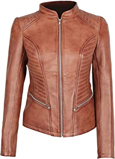 Women Leather Jacket - Real Lambskin Leather Jackets for Women