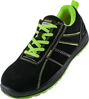 riemot Steel Toe Cap Safety Trainers for Mens,Lightweight Breathable Safety Shoes,Non-Slip Work Trainers,Wide Fit Work Sho...