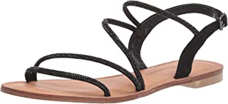 Chinese Laundry Women's Carley Flat Sandal BLACK SUEDE 7 M US