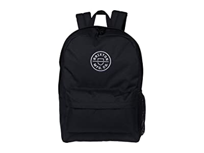 Brixton Crest Backpack (Black/White) Backpack Bags