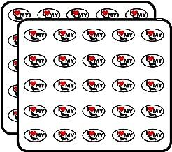 Oval I Love My Dachshund (Heart weener Weiner Dog) Sticker for Scrapbooking, Calendars, Arts, Kids DIY Crafts, Album, Bullet Journals