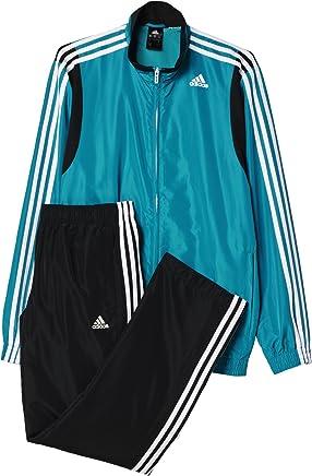 Adidas Men's TS Basic 3S TracksuitGreen EQTVER White, Size 186