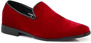Best red velvet loafers mens Reviews
