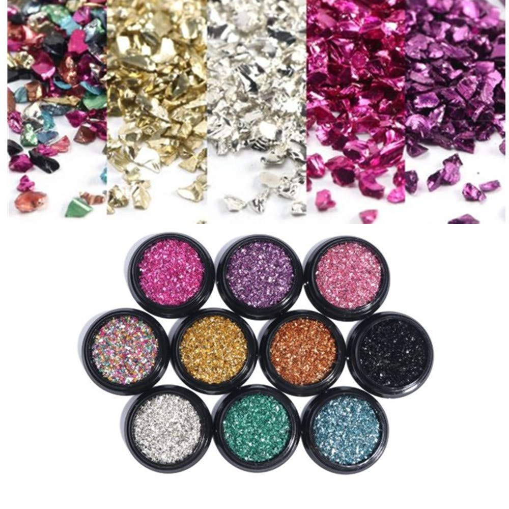 10 Boxes Nail Art Glitter Ranking TOP4 Selling Decoration Sparkle Colorful Irregular