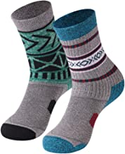 Women's Hiking Socks, Facool Padded Trekking Running Walking Crew Socks 1/2 Pairs