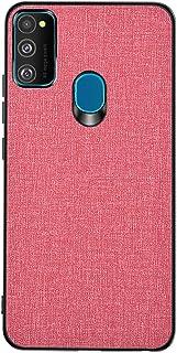 1Anberi Hülle for Samsung Galaxy M31, Handyhülle kompatibel Samsung Galaxy M31 Stylisch Stoff Textur und TPU Design Handyhülle Premium Segeltuch Kratzfest Schutzhülle Ultra Dünn Case Hartschale