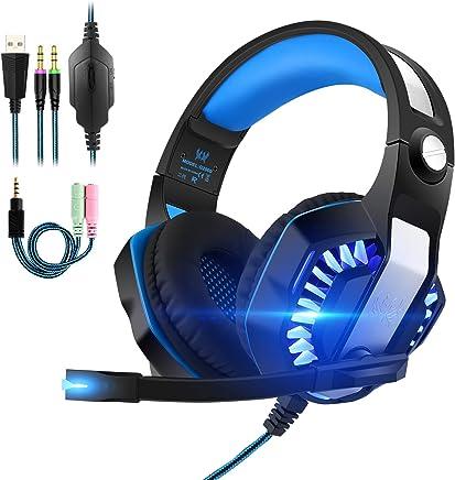 Cuffie da Gioco G2000 Gaming con LED PC PS4 Stereo MP3 con Microfono Compatibile con Xbox Ones Smartphone Regolatore Volume Insonorizzato Blu e Nero (G2000 II Generazione) - Trova i prezzi più bassi