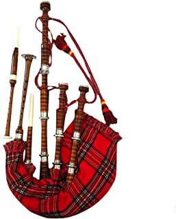 111c834c22 Gran escocés Highland gaita negro plata Plain casquillos/Gaita jugar con  Tutor libro con Royal