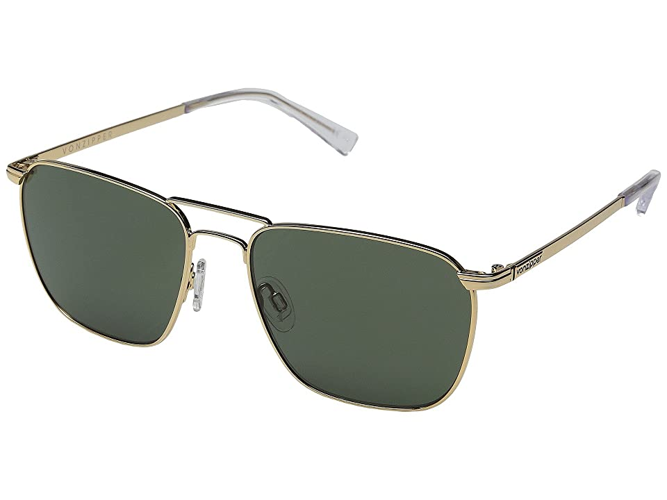 VonZipper League (Gold Gloss/Vintage Grey) Sport Sunglasses