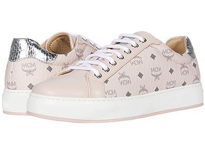 MCM Visetos Low Top Sneaker (New Soft Pink) Women