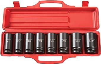 TEKTON 3/4-Inch Drive Deep Impact Socket Set, Inch, Cr-V, 6-Point, 1-Inch - 1-1/2-Inch, 8-Sockets   4891