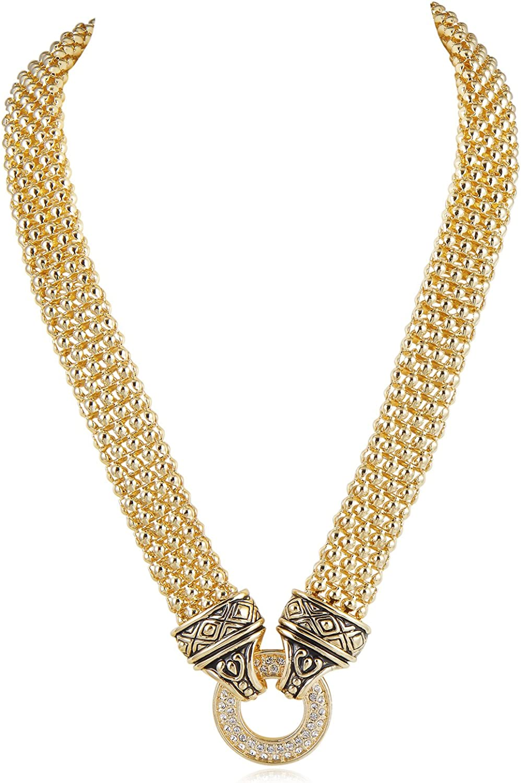 UNY Designer Inspired Short Necklace 45cm + 5 cm Popcorn Chain C