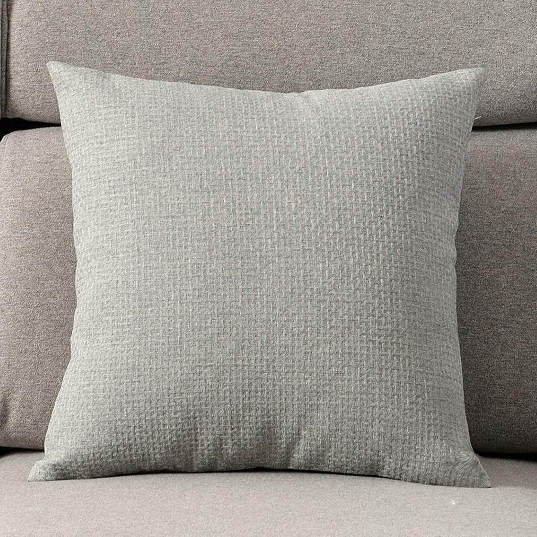 Pillow Linen Pillow Living Room Sofa Cushion Bed Headrest Chair Backrest, Multi-color Optional QYSZYG (color   A, Size   55cm55cm)