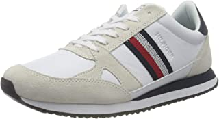 Tommy Hilfiger Runner Lo Leather Stripes, Cuir rayé Homme