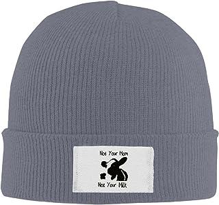 ユニセックスファッションニットウールNot Your Mom Not YourミルクAnimal Rightsキャップストッキングハット暖かいニット帽子