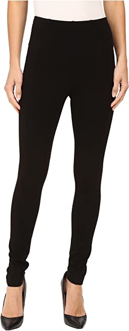 Liverpool - Reese Ankle Leggings with Slimming Waist Panel in Black