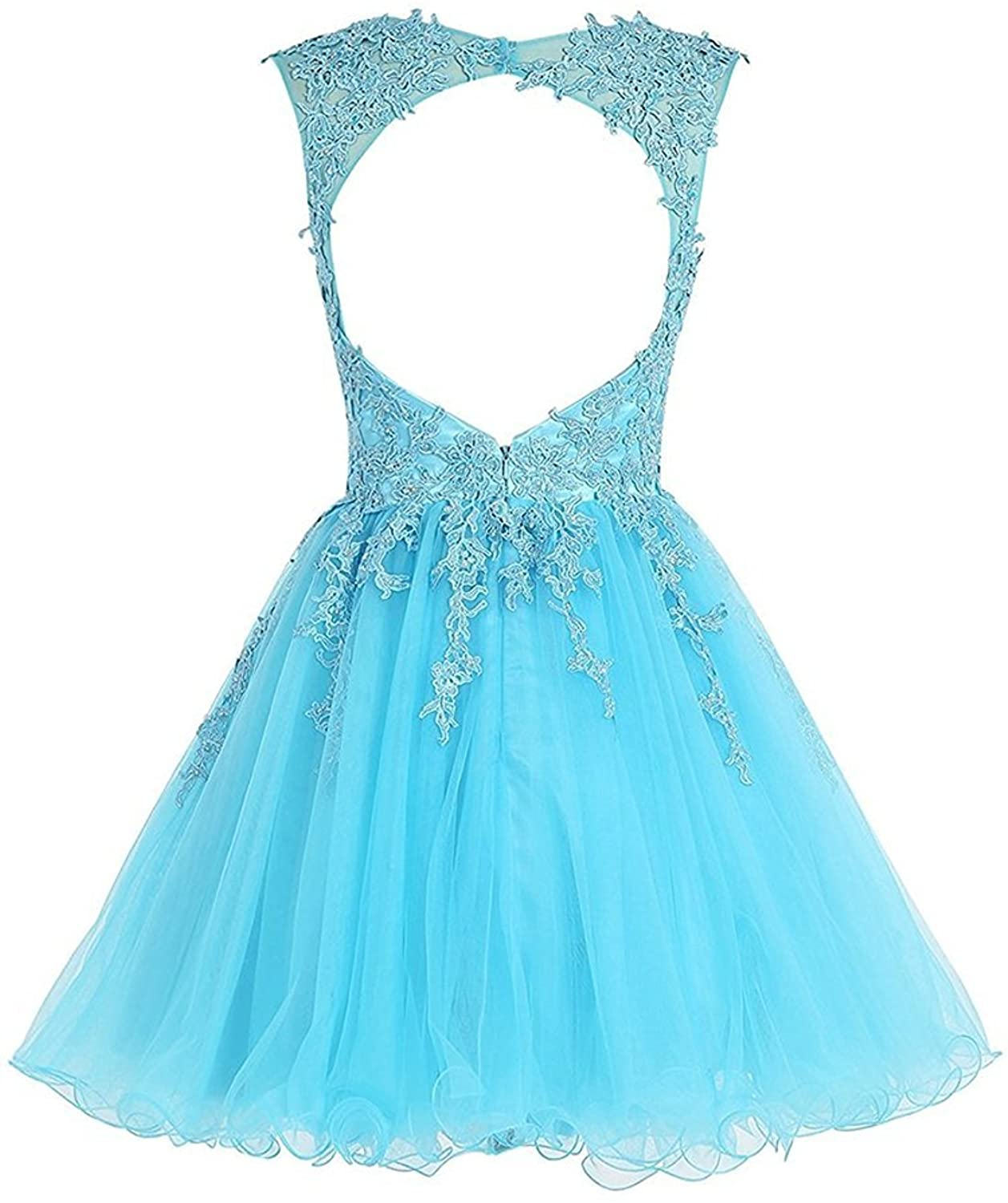 Homecoming Dress Short Cocktail Dress Lace Homecoming Dress Tulle V Neck Prom Dresses Appliques