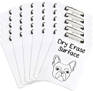 30 Pack Whiteboard Clipboards, Dry Erase Front Surface with Low Profile Clip, Designed for Classroom and Business Use, 30 Pack