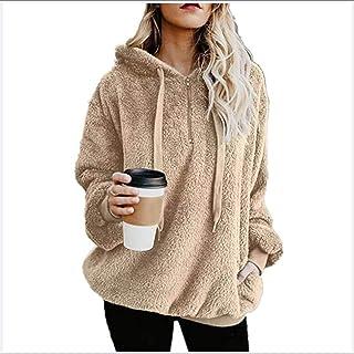 QIAO Jerséis Cárdigans Y Sudaderas Suéter Abrigo Mujer Otoño Invierno Talla Grande Hoodie Bolsillo Hoodie Jersey Mujer Oto...