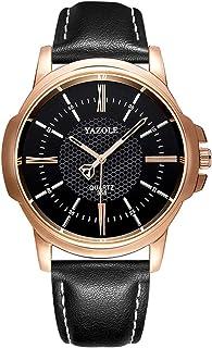 Andoer Business Fashion Men's Watches Quartz Watch Leather Band Wristwatch Dress Watches