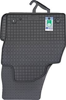 PETEX 66410 Rubber mat Set of 4, Suitable for VW Polo from 10/2017, Black
