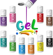 Gel Food Coloring 10x10ml Colors Set- Wayin Gel Based Vibrant Food Color Dye Flavorless Edible Icing Color Concentrated Ne...