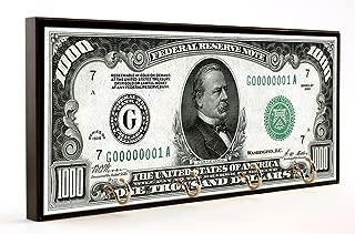 Brotherhood 1928 One Thousand Dollar Bill Grover Cleveland Wood/MDF Key Hanger