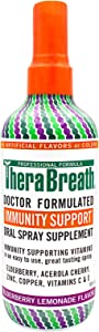 TheraBreath Immunity Support Doctor Formulated Oral Spray Supplement, Cherry Lemonade, 10 Ounce