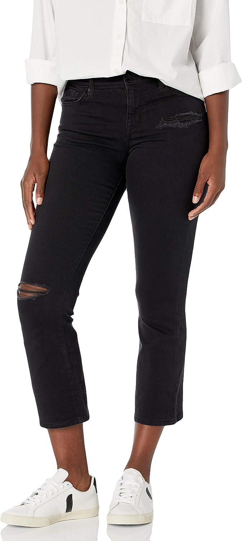 William Rast Women's Misses Mid-Rise Crop Boot Cut Jean