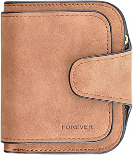 Kuang Women's PU Matte Leather Large Capacity Girls Wallet Card Holder Organizer Small Coin Purse