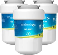 Waterdrop MWF Refrigerator Water Filter, Replacement for GE Smart Water MWF, MWFINT, MWFP, MWFA, GWF, HDX FMG-1, GSE25GSHECSS, WFC1201, RWF1060, 197D6321P006, Kenmore 9991, r-9991, 3 Pack
