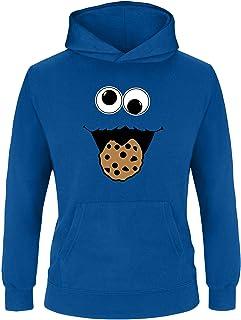 Ezyshirt Cookie Monster Kinder Hoodie | Kinder Kapuzenpullover | Kinder Pullover