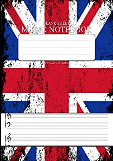Blank Sheet Music Notebook: For Piano 80 Pages Staff Paper For Pianists DIN A4 - 12 Stave Music Manuscript Paper Book With...