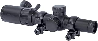 Monstrum 1-4x20 Rifle Scope with Rangefinder Reticle and Medium Profile Scope Rings