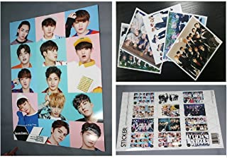 SEVENTEEN - 12 PHOTO POSTERS(16.5 x 11.7 inches) + 1 STICKER + 5 Photos(4 x 3 inches)