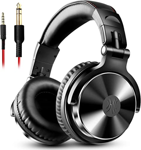 OneOdio Adapter-Free Closed Back Over-Ear DJ Stereo Monitor Headphones, Professional Studio Monitor and Mixing, Teles...