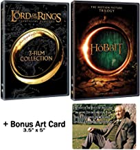 The Lord of the Rings + The Hobbit: Complete J. R. R. Tolkien Film Franchise Fanatic DVD Collection + Bonus Art Card