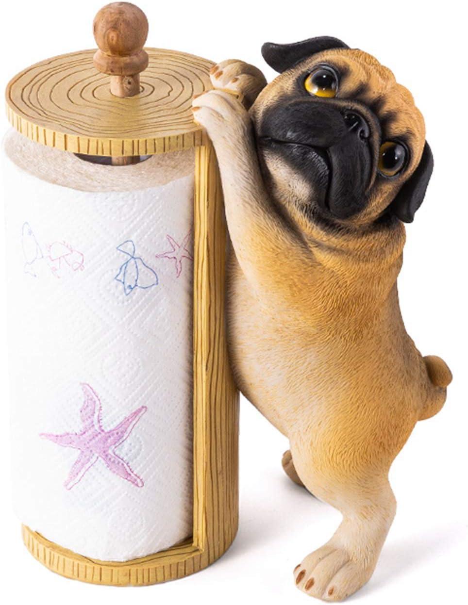 Kitchen Roll Holder Creative Ranking 2021 model TOP14 Dog Modeling Resin Towel Paper Hol