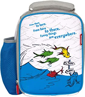 Kids Lunch Bag Box Insulated Toddler Girls Boys Cooler Bag Dr Seuss One Fish Two Fish