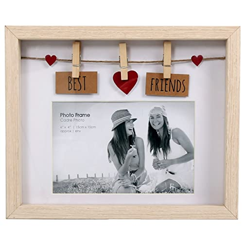 Clothes Line Wooden Box Frame With Pegs For 6 X 4 Photo