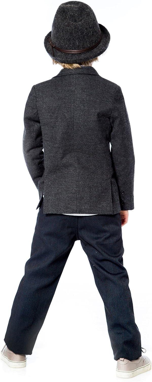 Deux par Deux Boys' Charcoal Blazer Suit up, Sizes 2-12