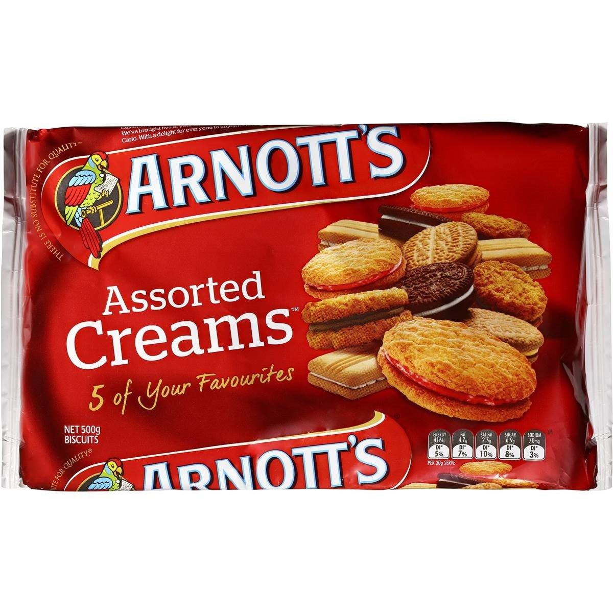 Arnott's Assorted Cream Biscuits 500g