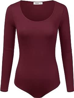 Stretchy Scoopneck Soft Knit Bodysuit with Plus Size