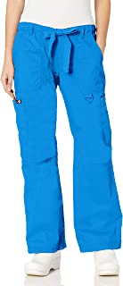 KOI Women's Lindsey Ultra Comfortable Cargo Style Scrub Pants (Petite Sizes)