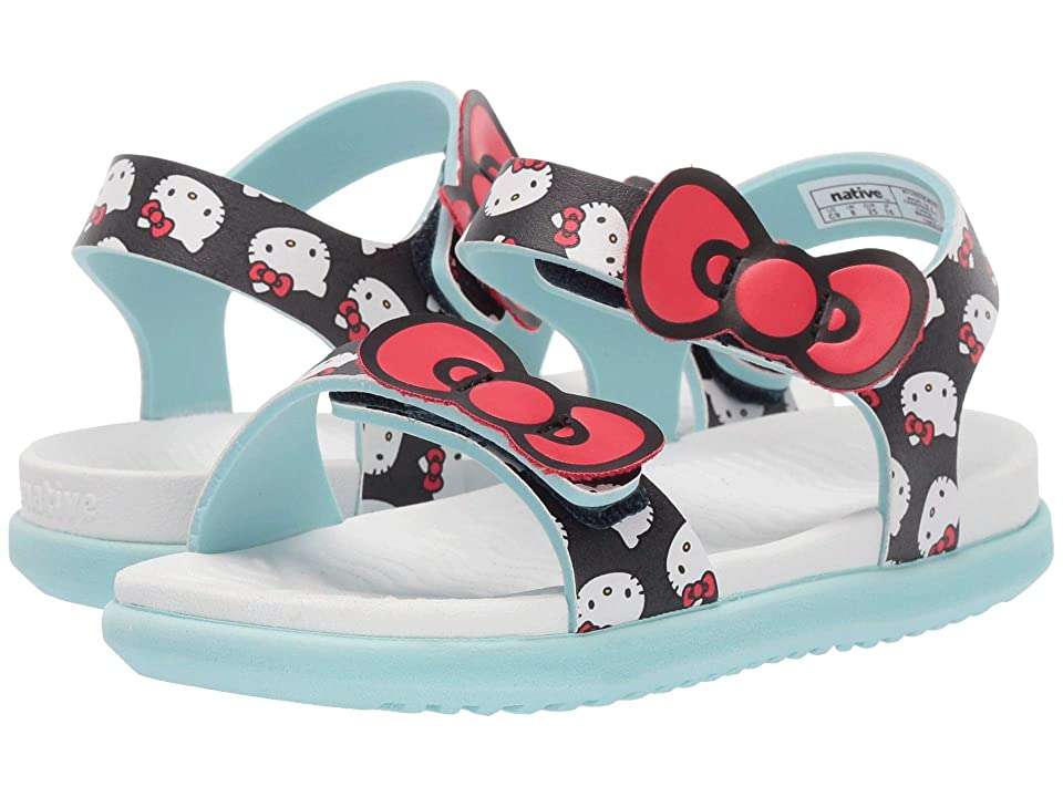 Native Kids Shoes Charley Bow (Toddler/Little Kid) (Regatta Blue/Shell White/Hydrangea Blue/Hello Kitty) Girl